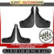 4x Mud Flaps Splash Guards Mudflaps for Mercedes Benz W205 C180 C200 C250 C300