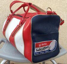Vtg Isuzu Andy Williams San Diego Open Golf Tournament Scovill Leather Gym Bag