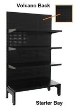 Black Gondola Shelving Single Sided Starter Bay 1800h X 900w 4 Shelves per Side