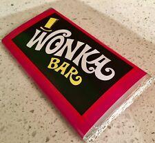 Fake Wonka Bar Book Week Costume Accessory Willy Wonka Prop