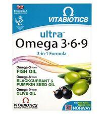 Vitabiotics Ultra Omega 3 6 9 60 Capsules