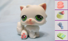 Littlest Pet Shop #15 White Persian Kitty Cat Pink Paws+1 FREE Access. Authentic