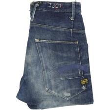 G-Star Hank Fairway Men Blue Straight Loose Jeans W34 L34 (51348)