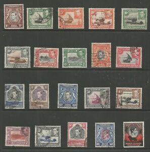 K.U.T. SG131-50a THE 1938-54 GVI SET OF 20 FINE USED CAT £50 AS CHEAPEST