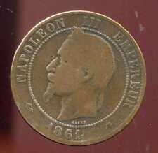 FRANCE  FRANCIA  10 centimes NAPOLEON III   1861 A  ( 4 )