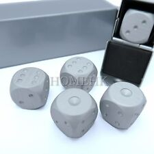 Aluminum Metal Dice with Box Case Set for Party Gift Casino Gamble Heavy Weight