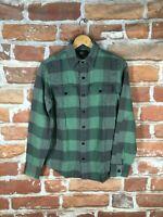 RRL XS Ralph Lauren Buffalo Plaid Southwestern Trucker Flannel Work Shirt