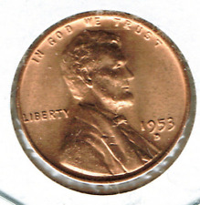1953-D Uncirculated Business Strike Copper One Cent Coin!