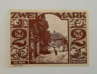 PADERBORN NOTGELD 2 MARK 1921 *AN DER ESELGASSE* NOTGELDSCHEIN (11689)