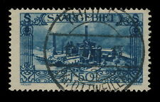 "SARRE / SAAR / SAARGEBIET 1927 Yv.117 / Mi.118 used "" THOLEY / (Kr. OTTWEILER) """