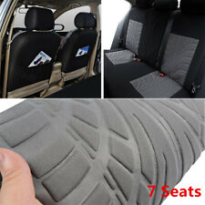 Gray Tread Car Seat Cover 7-Seats MPV Van Minivan 2nd 3rd Row Chair Protectors