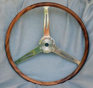 Morgan Plus 4 Wood Rimmed Steering Wheel - TOK 258