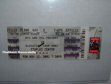 U2 Concert Ticket L.A. STAPLES CENTER Elevation Tour 11/12/2001 MTV Bono  RARE