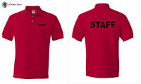 STAFF Polo Shirts Event Bouncer Security Party Guard Polos S-5XL Free Shipping
