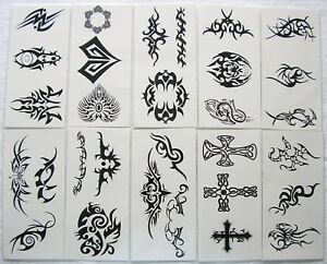 Whole Sale 30 Different Tribal  Temporary Tattoos (Hot!) BT2
