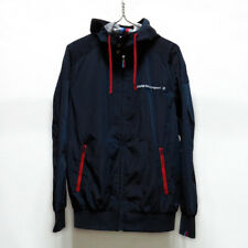 BMW Motorsport Racing hooded Windbreaker Jacket unused mens S size