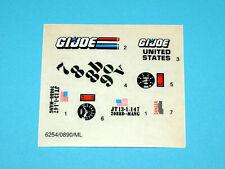 1989 GI JOE ARCTIC BLAST ORIGINAL UNUSED STICKER SHEET TRANSFERS - HASBRO