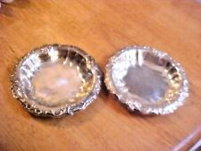 ATTRACTIVE Vintage Heavy Silverplate Candy Dish Set #AQ690