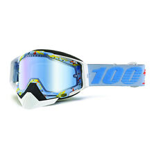 ACCESSORI OCCHIALI GOGGLE SPORT BIKE 100% RACECRAFT SNOW HLP BLUE SPECCHIO