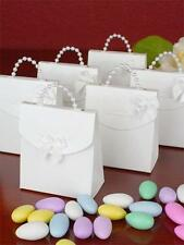 50 Favour Boxes Pearl Handle White All Occasions, Weddings, Engagements, Parties