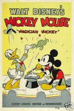 Magician Mickey 1937 Disney Culto Dibujos Animados Película Cartel Póster