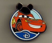 DISNEY PIN 88457: WDW - Mystery Collection - Circle Icon 'D' - Lightning McQueen