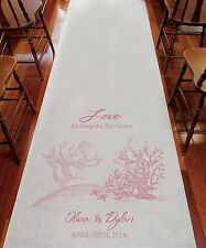 Reef Coral Beach Theme PERSONALIZED Aisle Runner Wedding Ceremony Decoration