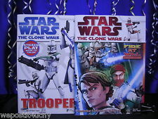 2 Star Wars Coloring Sticker Books Clonewars