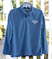 Ouray Sportswear MENS SMALL Copper, Colorado Navy Blue Fleece Pullover