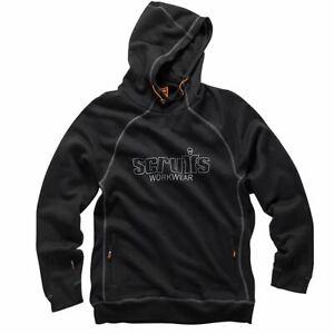 Scruffs Trade Work Hoodie Black Men's Sweatshirt Hooded Jumper Workwear Top
