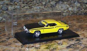 Road Champs 1970 AAR Cuda Plymouth Barracuda Diecast Model Car 1:43 Yellow, NICE