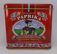 Hungarian Paprika HOT Kalocsai Paprika 100g / 3.5 oz. Tin + FREE wooden scoop