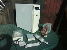 Retro White midi ATX case including PSU floppy cd drives great condition