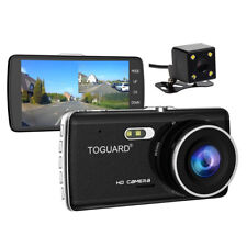 "TOGUARD Car DashCam Dashboard Camera+4"" IPS HD 1080P Dual Lens Rearview 170° Cam"