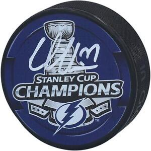 Victor Hedman Tampa Bay Lightning 2020 Stanley Cup Champs Signed Champs Puck
