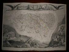 CARTE GEOGRAPHIQUE PUBLIE PAR COMBETTE 1845 / DEPARTEMENT BASSES PYRENEES