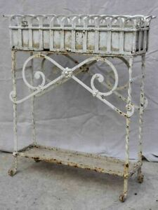 Early 20th Century French iron and zinc pot plant stand