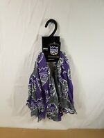 Sacramento Kings NBA Basketball Purple Oblong Scarf NWT ZooZatz