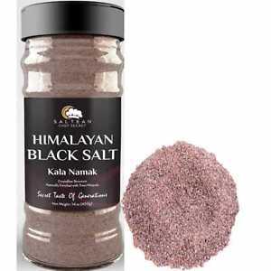 HIMALAYAN BLACK SALT FINE 400GRAM/DUAL FLIP/KALA NAMAK /SALTEAN CHEF SECRET/Perf