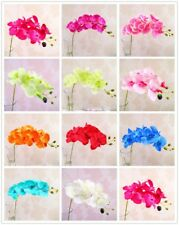 5/10 Bouquet Artificial Butterfly Orchid Silk Fake Flowers Home Wedding Decor