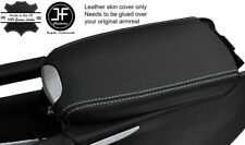 WHITE STITCH ARMREST LID REAL LEATHER COVER FITS MERCEDES ML CLASS W164 05-11