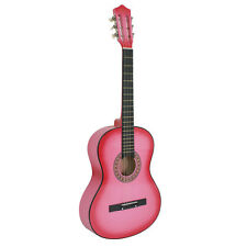 "38"" Pink Acoustic Guitar Starter Package With Guitar, Gig Bag, Strap, Pick"