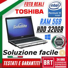 """M70_PC NOTEBOOK PORTATILE SATELLITE TOSHIBA M70 15"""" PENTIUM 5GB HDD 320GB 4gb!!!"""