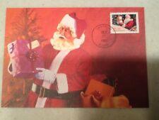 1991 Christmas Stamp FDC First Day Cover 10/17/1991 Santa, ID Postmark treasures