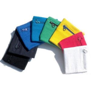 OutdoorSports Jogging Running Gym Cycling Fleece Zipper Wrist Wallet Pouch Band~