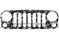 Grille Wrap Off Road Graphic Sticker Decal for Jeep Wrangler 2007-2016 SKULLS
