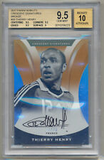 THIERRY HENRY 2017 Panini Nobility Crescent ON CARD AUTO /20 BGS 9.5/10 POP 1 !!