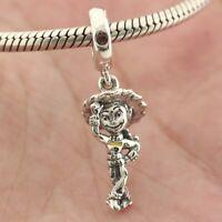 925 Sterling Silver Disne Toy Story Jessie Dangle Charm Fit European Bracelet