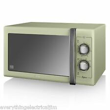 Swan SM22070GN Green 25 Litre Retro Manual Microwave