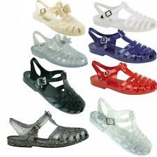LADIES  JELLY SHOES SUMMER BEACH SANDALS HOLIDAY FLIP FLOPS WATER WOMENS